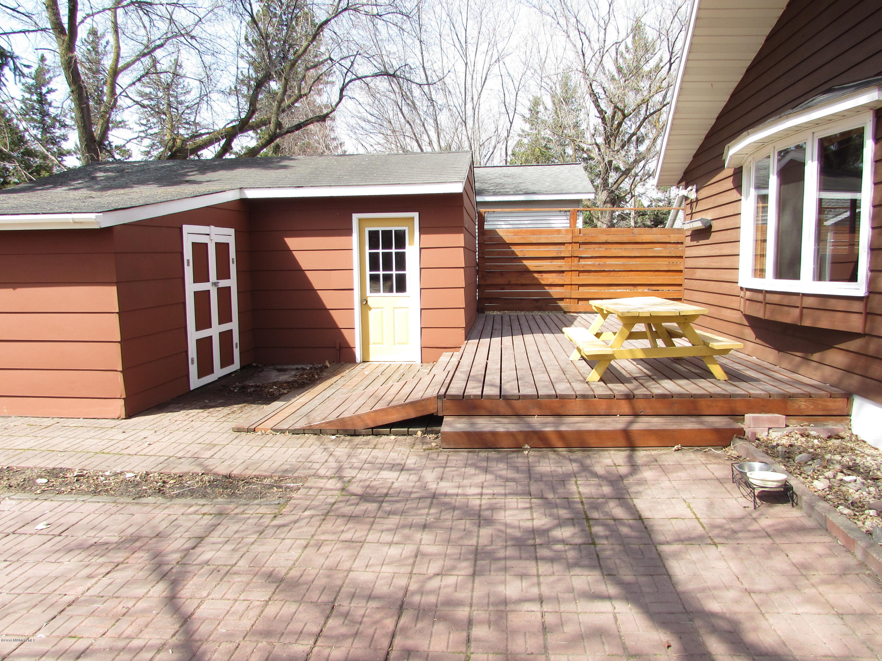 East Exterior - View 6 - Garden Shed and Handicap Accessible Wood Deck