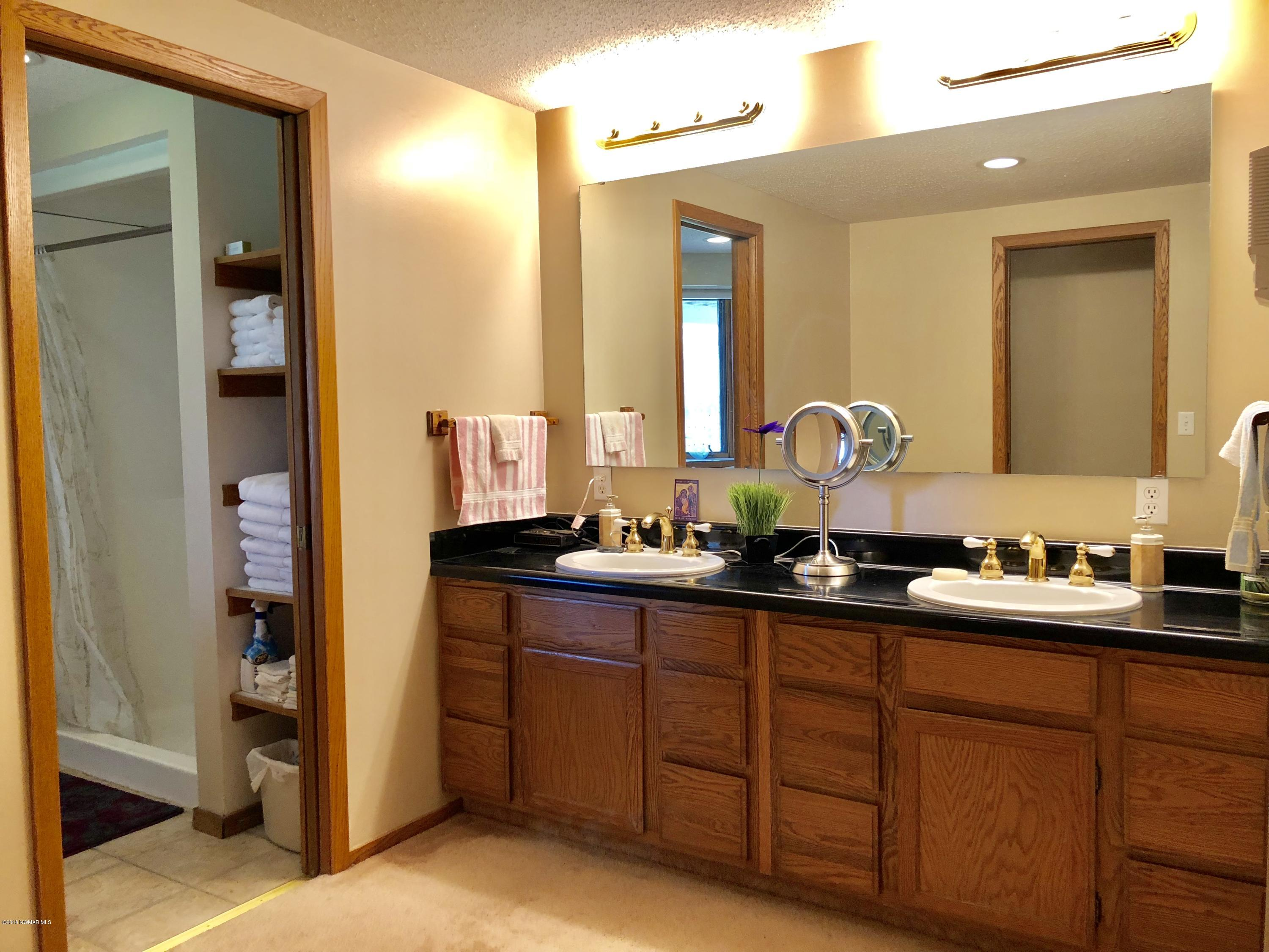 Master bath with double sinks