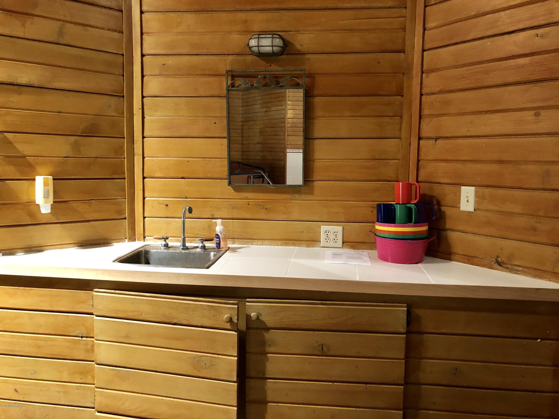 Pool room sink entertaining area