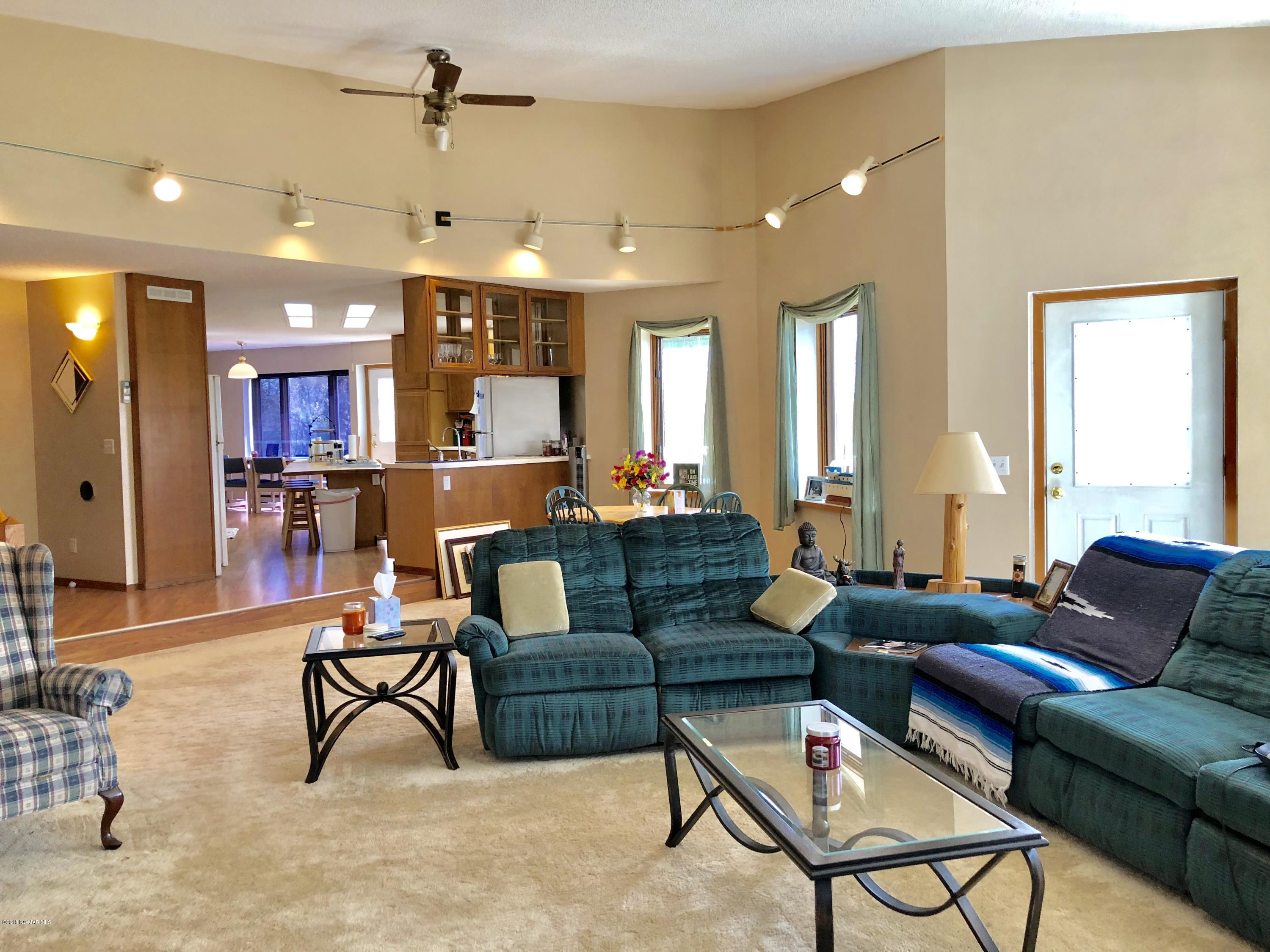 Large living room with Entrance to the deck
