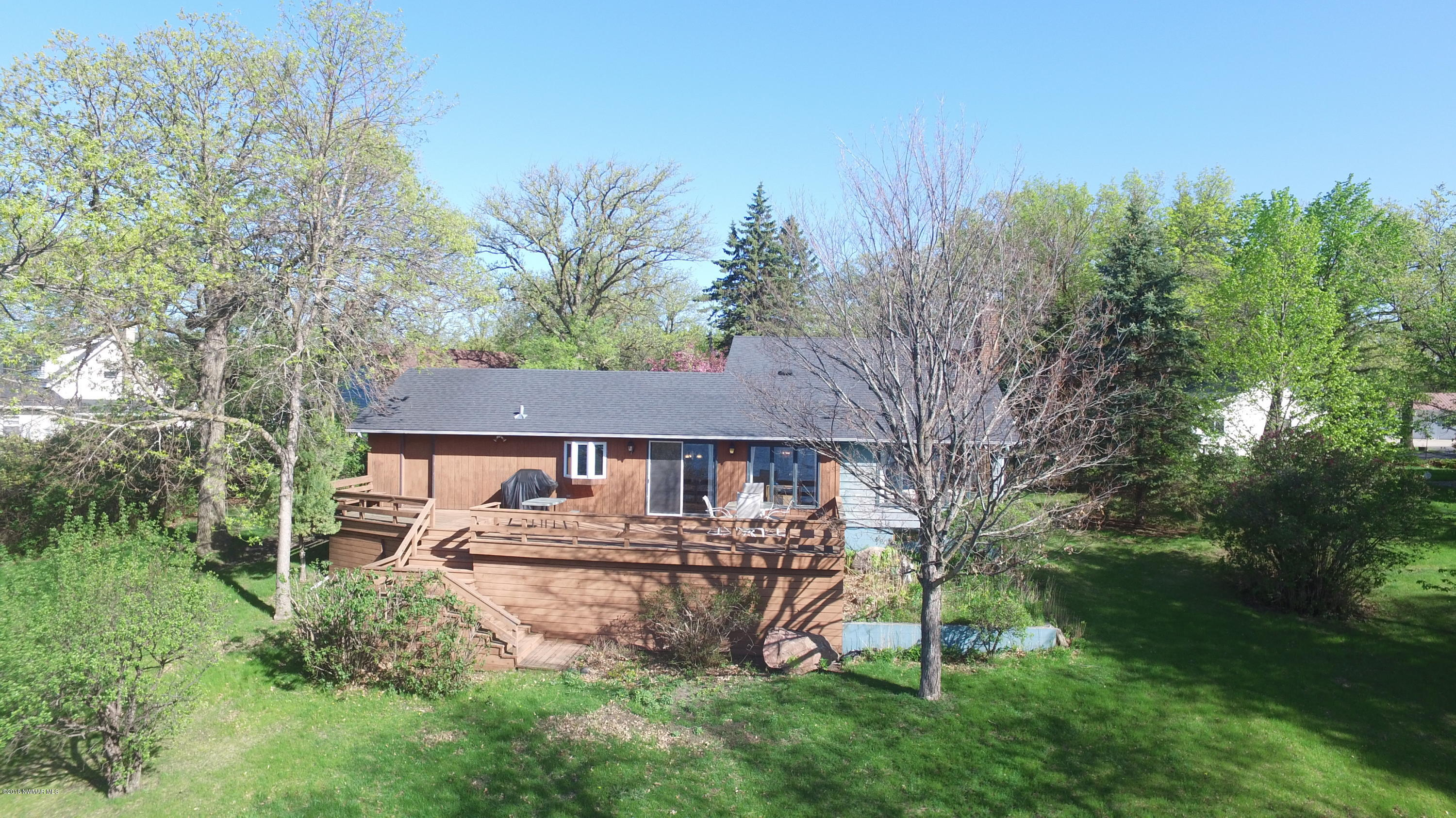 Home is located on the large portion of Maple Lake with stunning views and great fishing located just down the road from the Maple Lake pavilion.