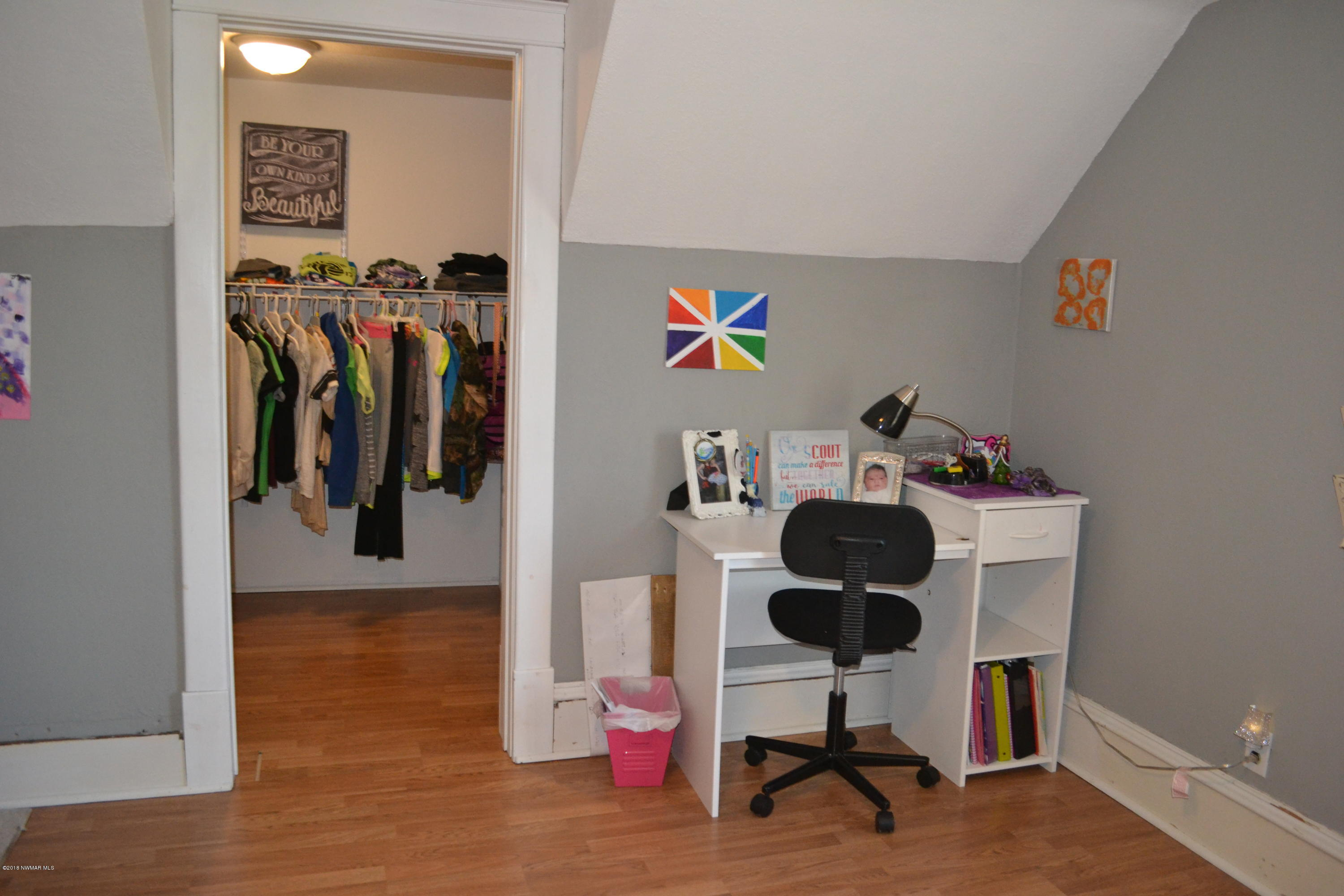 Large walk in closet in this bedroom