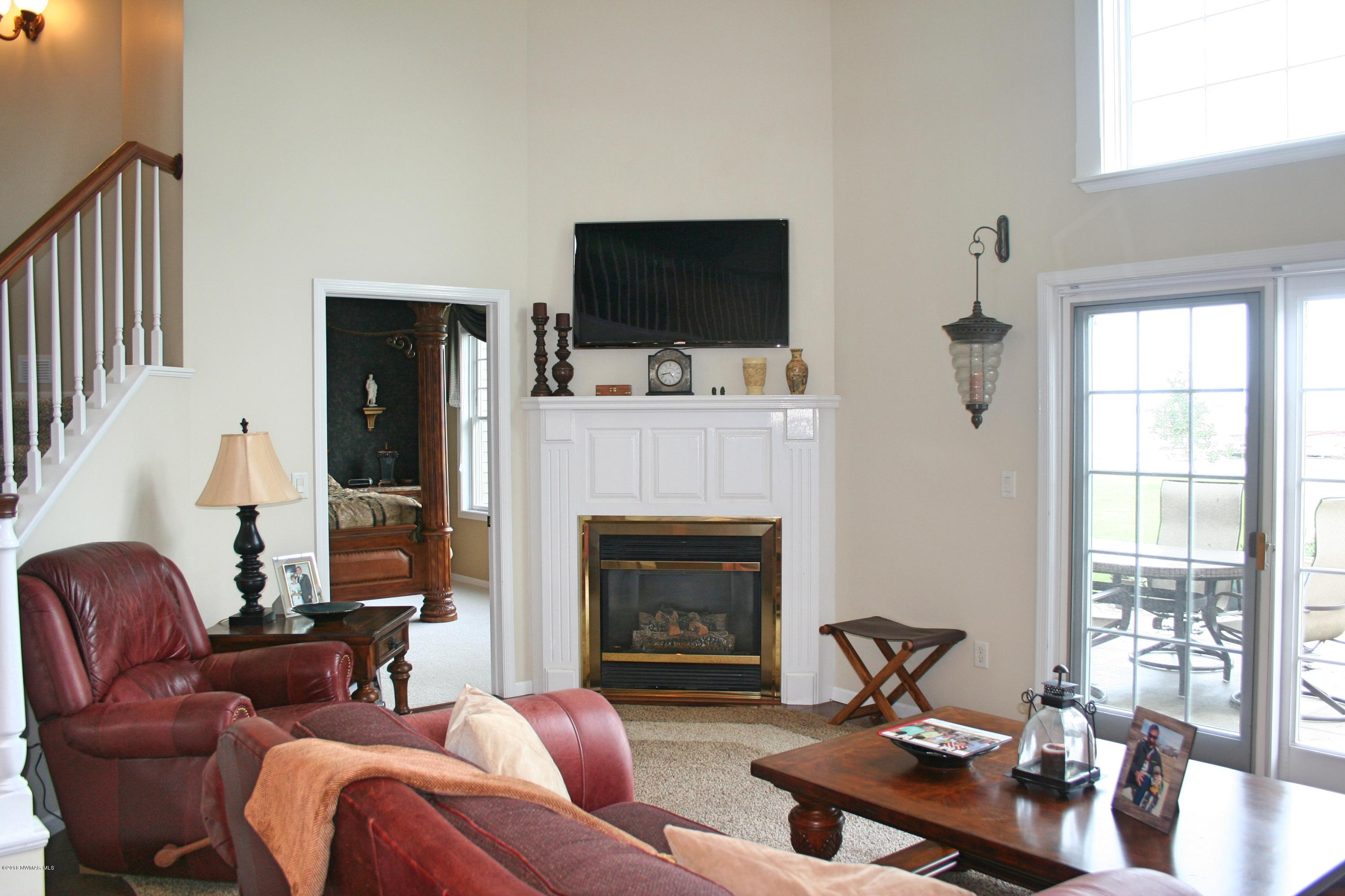 Living Room with Gas Fireplace!