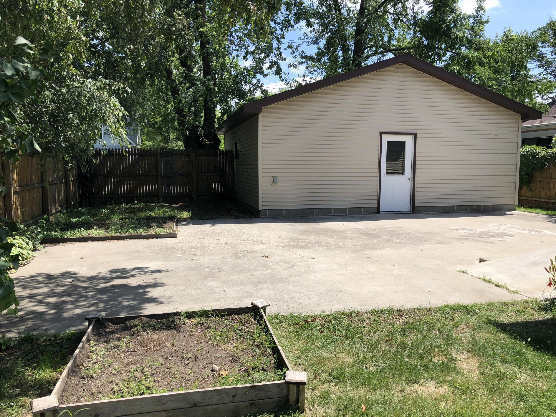 Nice back yard patio and double garage