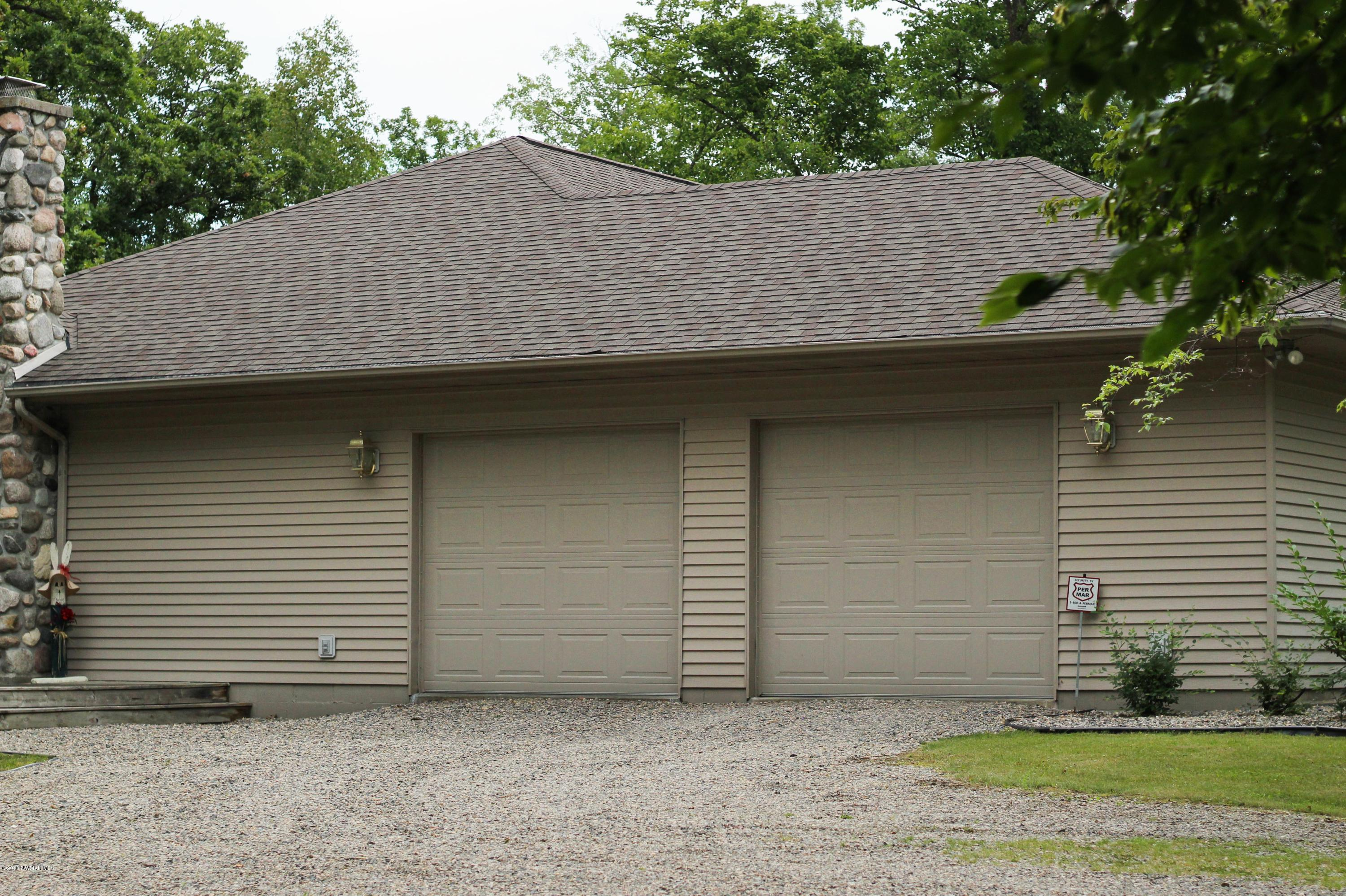 Attached garage, side of house