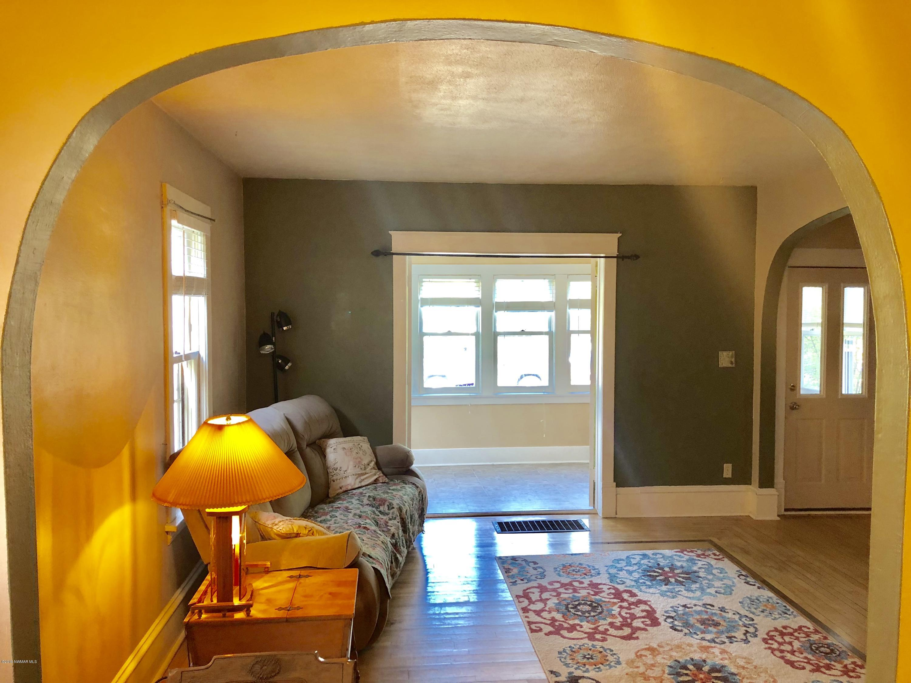 The archways in this home add character