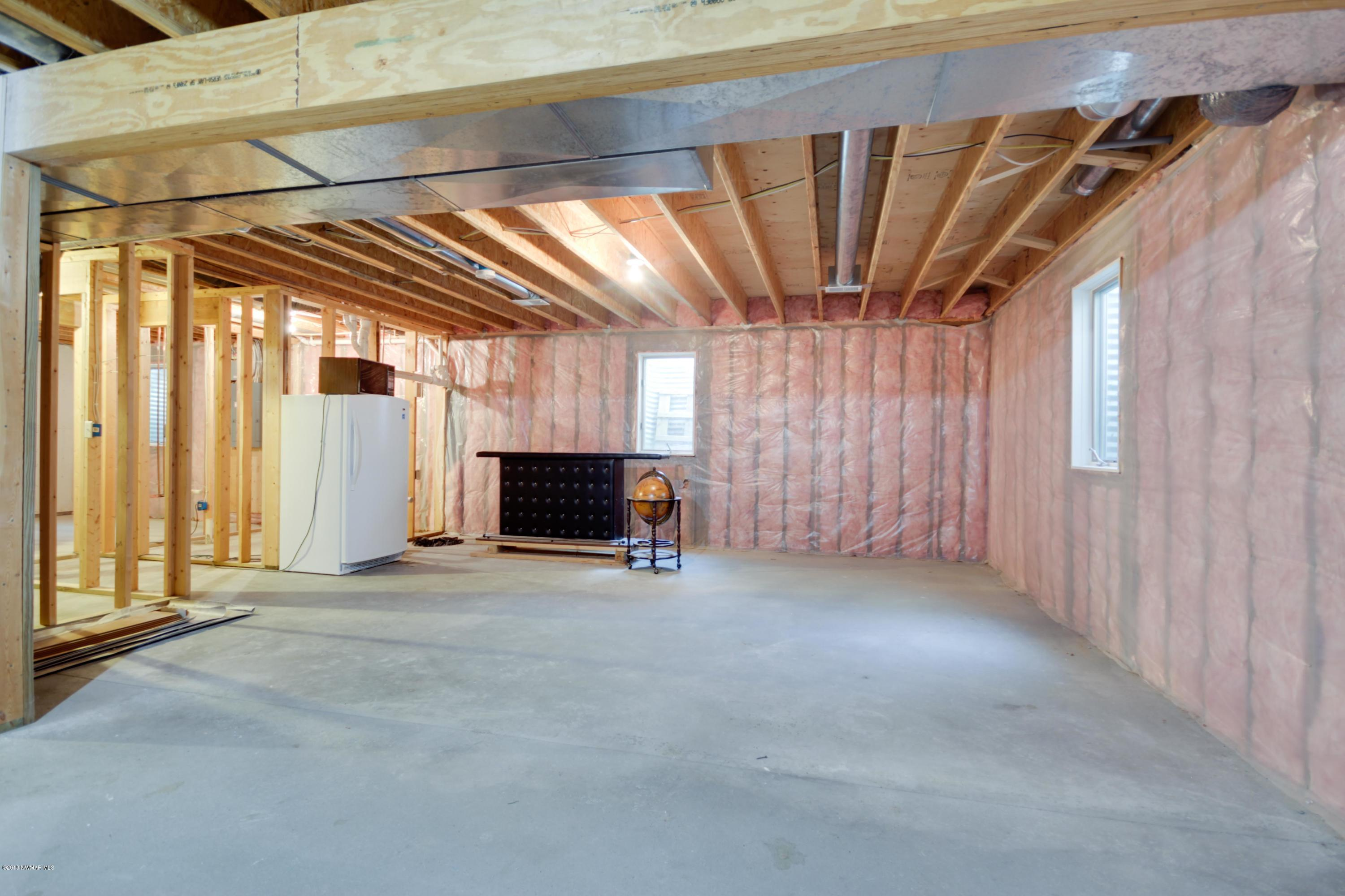 Unfinished Space in Basement