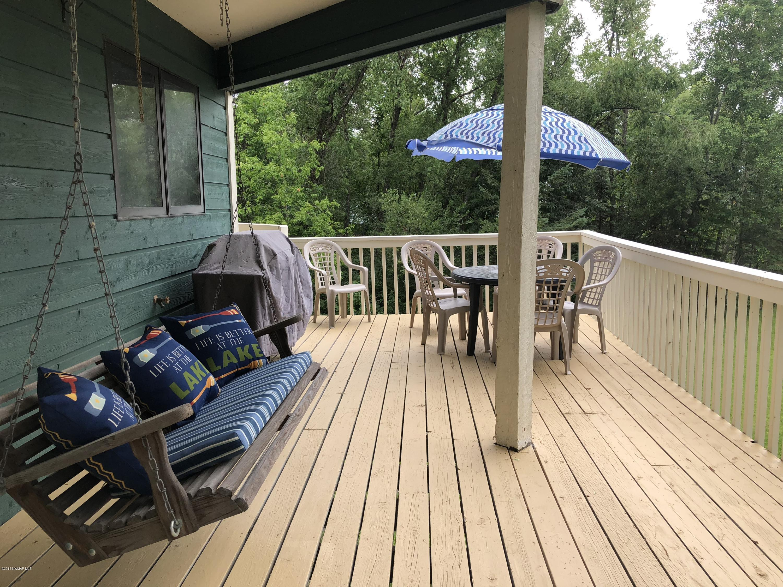 Large spacious deck