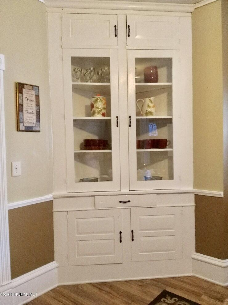 Built in hutch in dining room