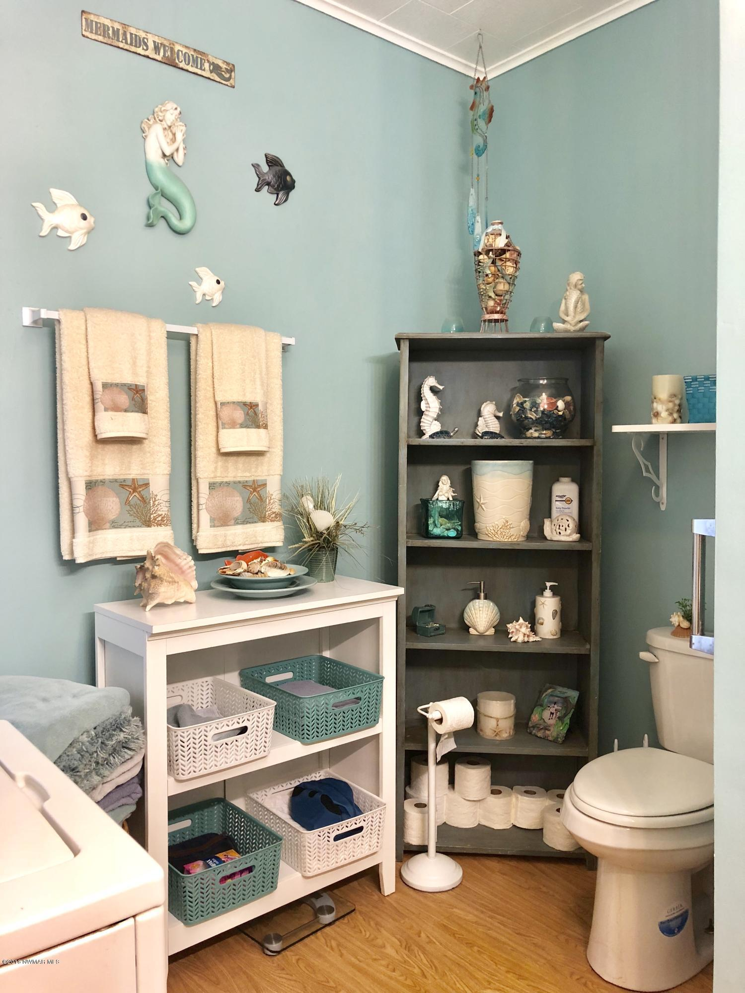 Bathroom with stackable washer/dryer