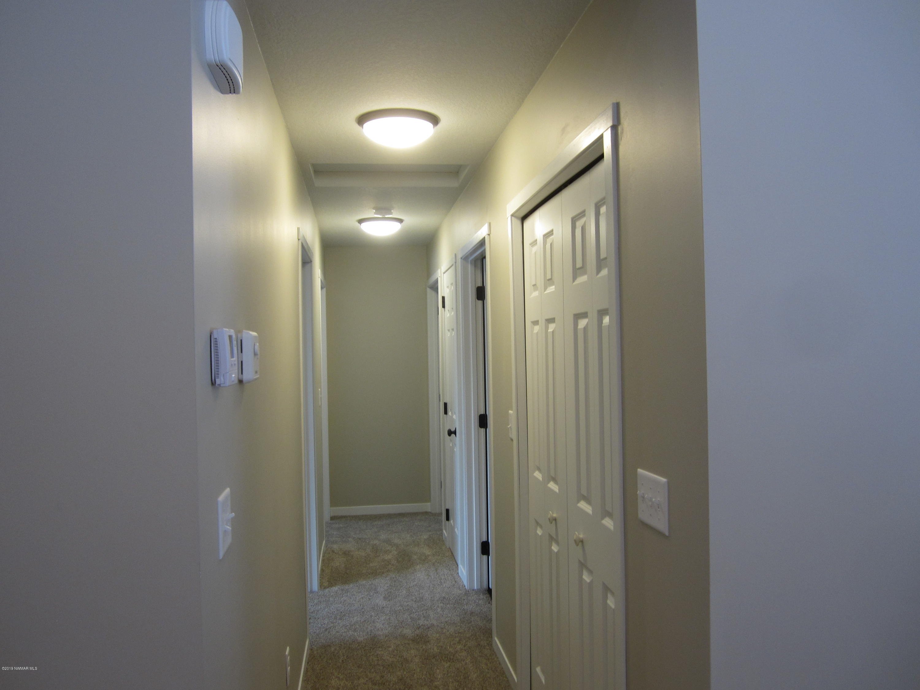 Hallway with TWO closets