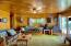 Fully furnished cabin with log cabin furniture