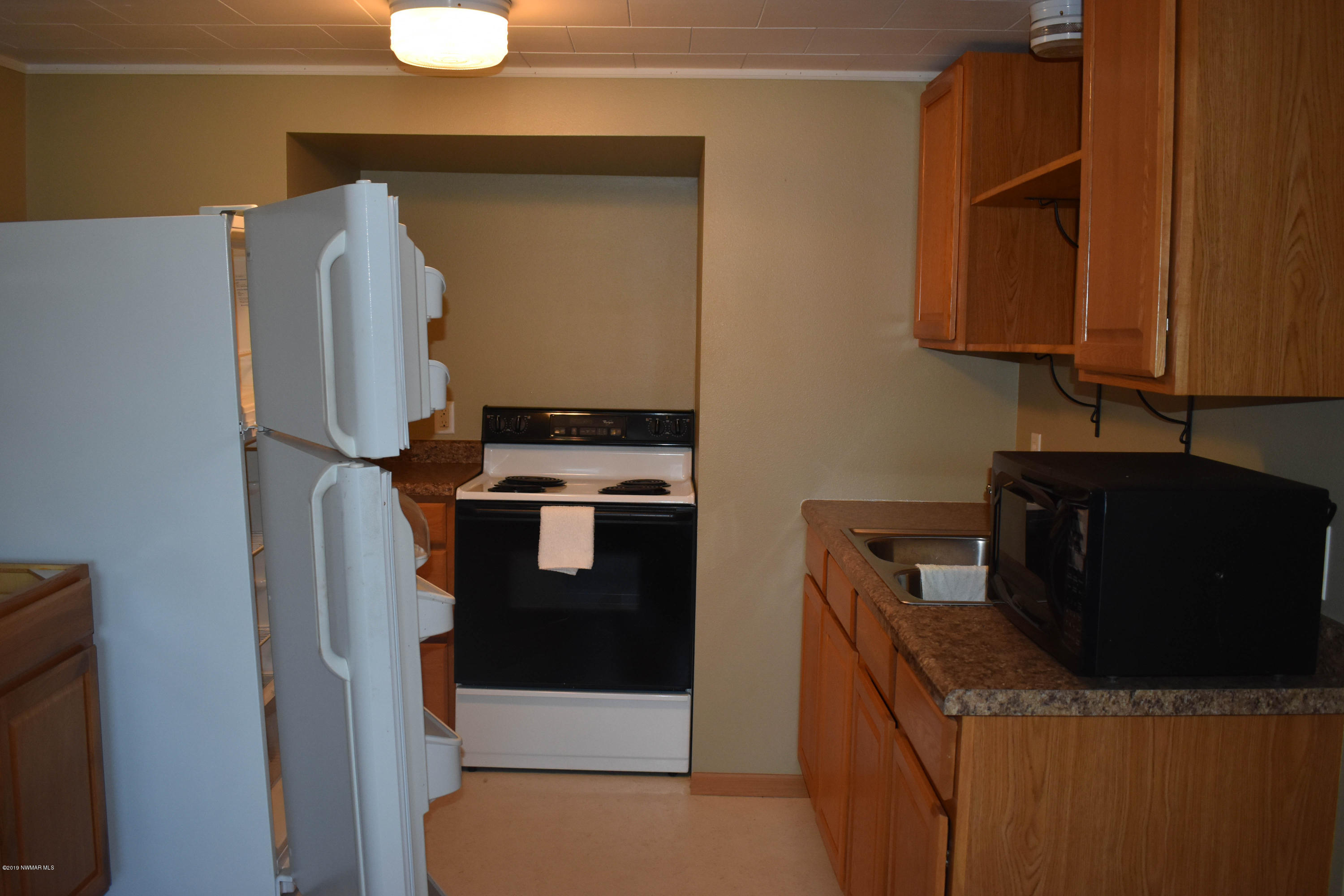 kitchen in the upstairs apartment