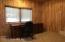 Office has birch walls