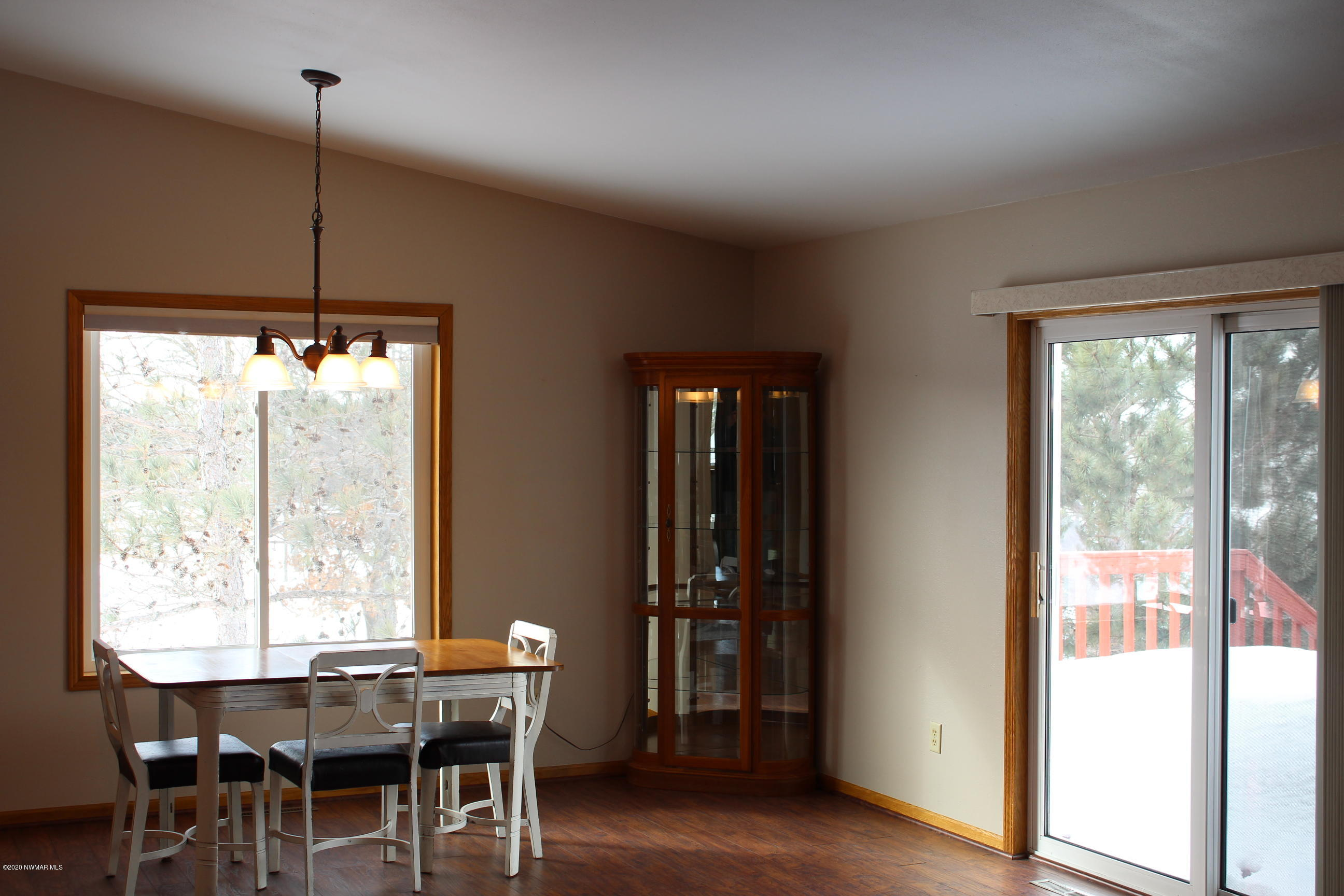 Dining and Deck access through the Patio doors.