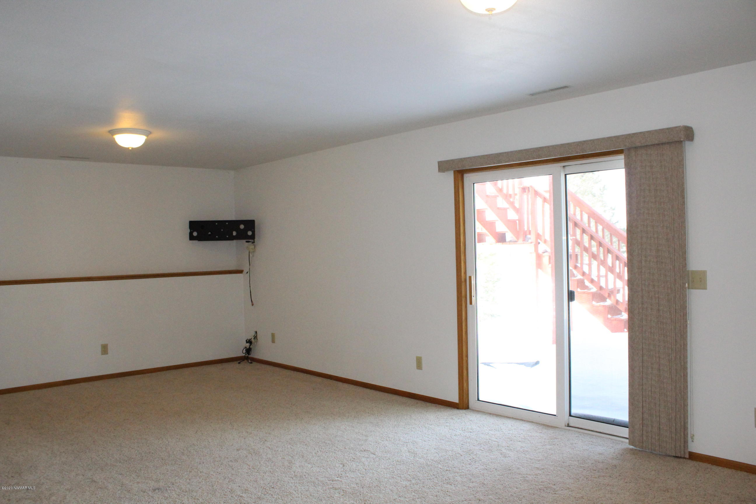 Family Room with Patio Door access to outside.