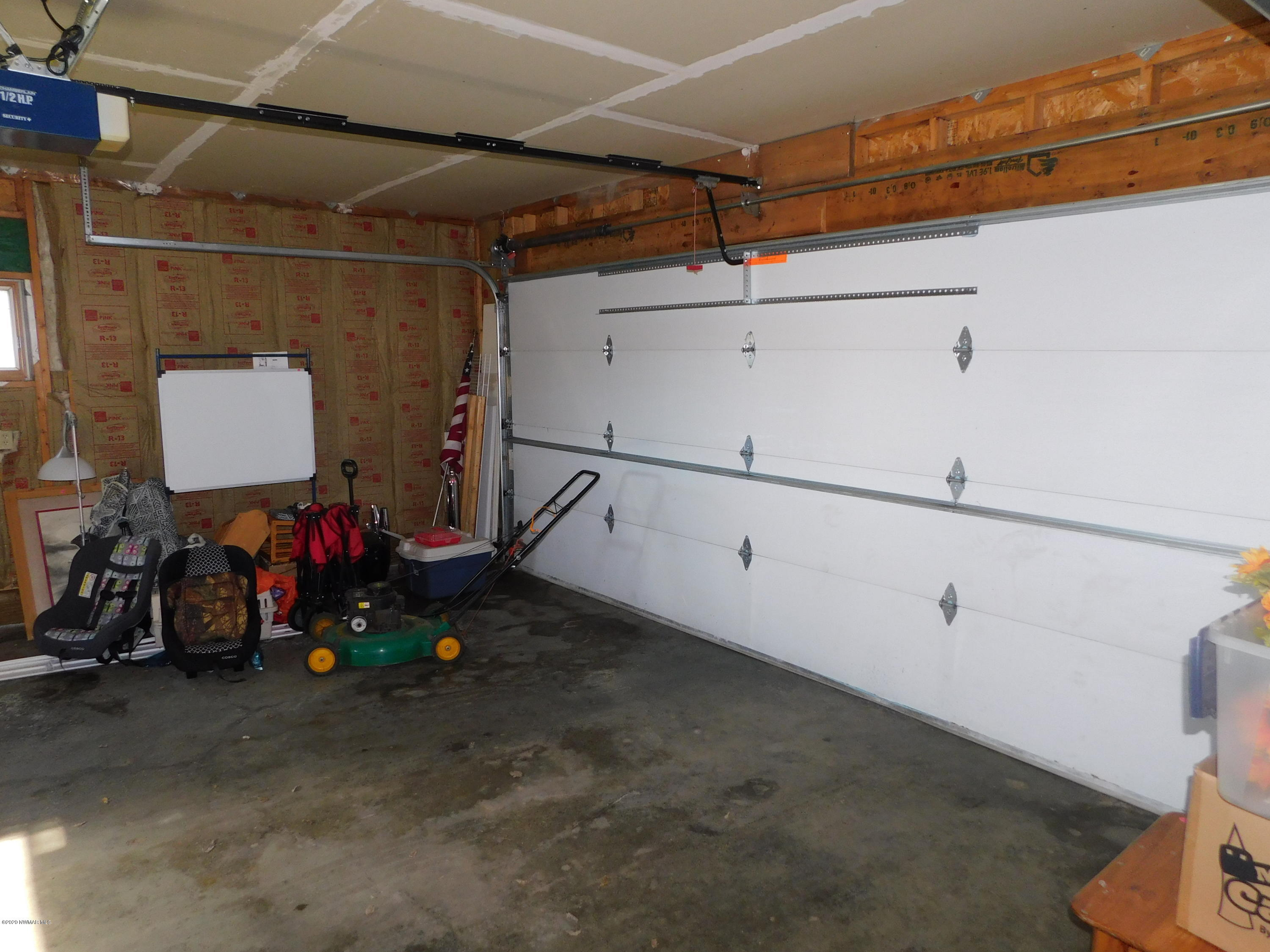 This double attached garage is insulated for the MN winters