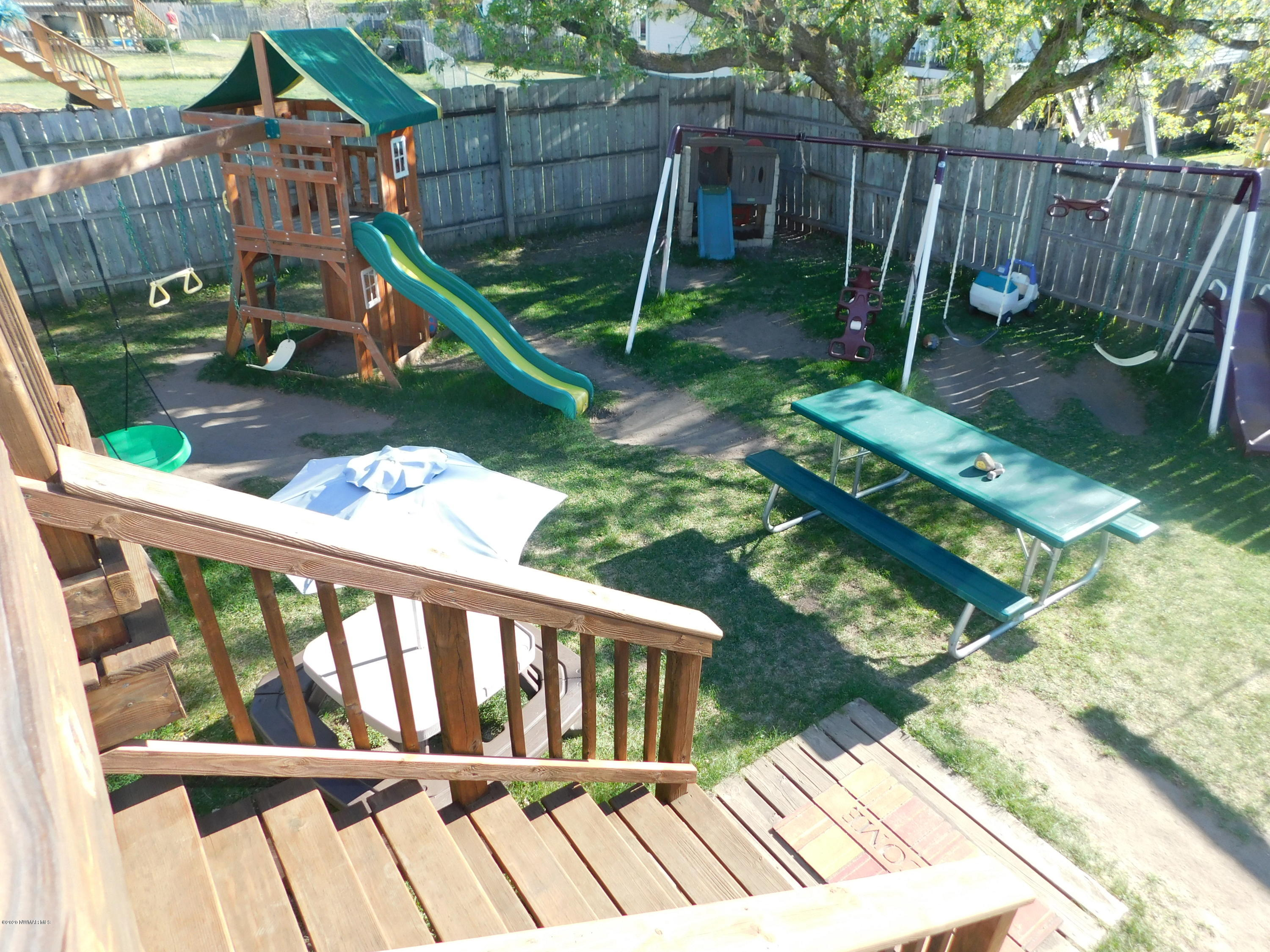 Inside the fenced in Back yard is a fantastic playground.