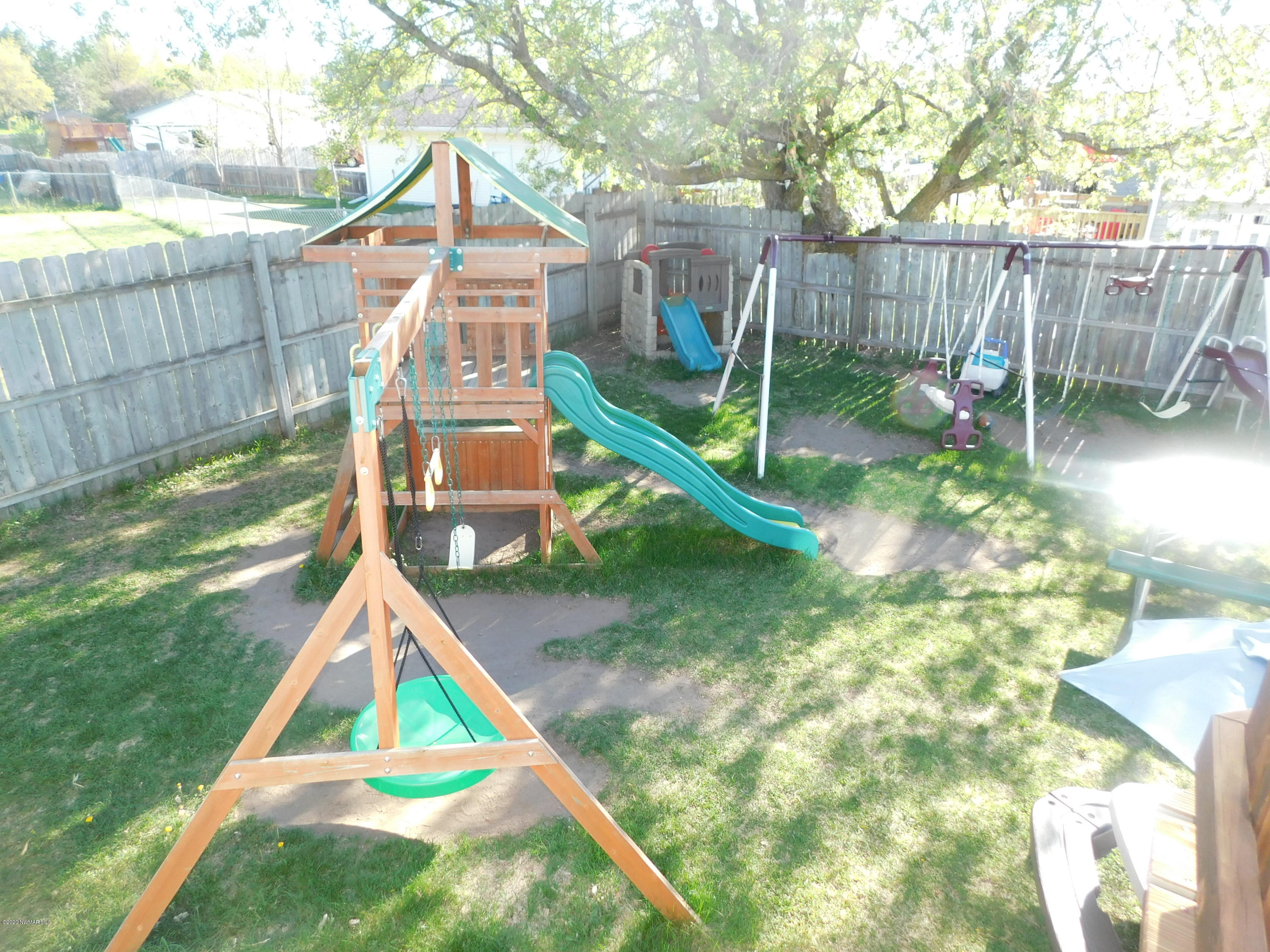 Swing Sets stay with the property