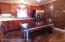 Check out the wood wall in kitchen - gorgeous