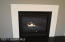 Gas fireplace with quartz details