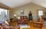 Sunny living room, hard wood underfoot