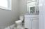 Ceramic floors, granite vanity top!