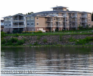 Villas on Pepin condos from the Lake