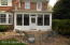 Back view of porch and paver patio