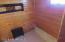 basement - supplemental heat, knotty pine woodwork