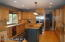 Kitchen, maple flooring, stainless appliances