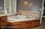 Mater bath with jetted tub