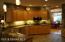 Kitchen, maple cabinets