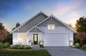 Rendering of a 2 car. This home includes a 3rd stall garage.
