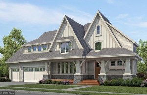 Modern farmhouse design w/ charming curb appeal. The New Haven plan is thoughtful inside & out!
