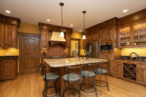 Custom kitchen with impeccable design for function and storage