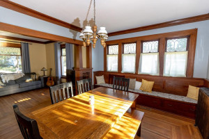 Great space to enjoy dinner with family and friends.