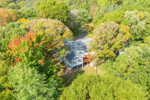 An aerial view of your suburban retreat. Imagine how beautiful the fall colors will be in another week!