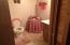 1/4 bath in walkout basement