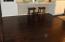 "3/4"" hardwood floors in kitchen, living, & dining area"