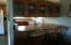 kitchen has snack bar