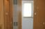 LP space heater next to service doors