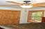 6-panel doors & ceiling fans through out
