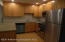 Granite counters and recessed lighting