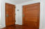 Custom five panel 8 foot doors made of mortise and tenon solid wood all on main level