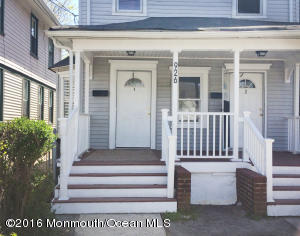 Spacious Two Bedroom Apartment with dining room. Walking distance to train and bus station and downtown. Shared backyard. Covered front porch with private entrance. Freshly painted with newer laminate flooring. Located on a quiet block across the street from a church. Sorry no pets.