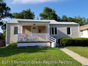 MOTIVATED SELLER WILL ENTERTAIN ALL OFFERS! 3 bedroom 2 full bath ranch in nice quiet neighborhood, on the border of Neptune City. Just a bike ride to the beach, and a short  drive to Belmar or Asbury. Also conveniently located near (but not too near) local shopping centers. Eat in kitchen, lovely front porch and, large shady back yard, detached one car garage.