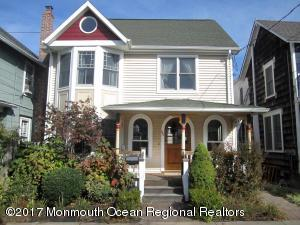 Gorgeous, spotless, Victorian gut-renovated 2004. Airy bright south facing home perfect for vacation or year round living. Hardwood floors thru out 1st floor with formal living room with bow windows and storage bench. Cozy dining room with gas fireplace. Up scale kitchen W/honed granite counters, SS appliances and Viking Range. Maple Cabinetry, pantry,  and dining area w/sliders leading to large deck in private paved yard. First floor powder room  and laundry. On 2nd level 3 spacious bedrooms with large closets/vaulted ceilings and ceiling fans. Master suite with decorative bow windows and 3rd level loft room. 2 newer baths. Rear bonus 2nd level balcony off master and rear bedroom. Anderson windows with a mahogany porch and front door. Vintage Victorian style with modern conveniences.