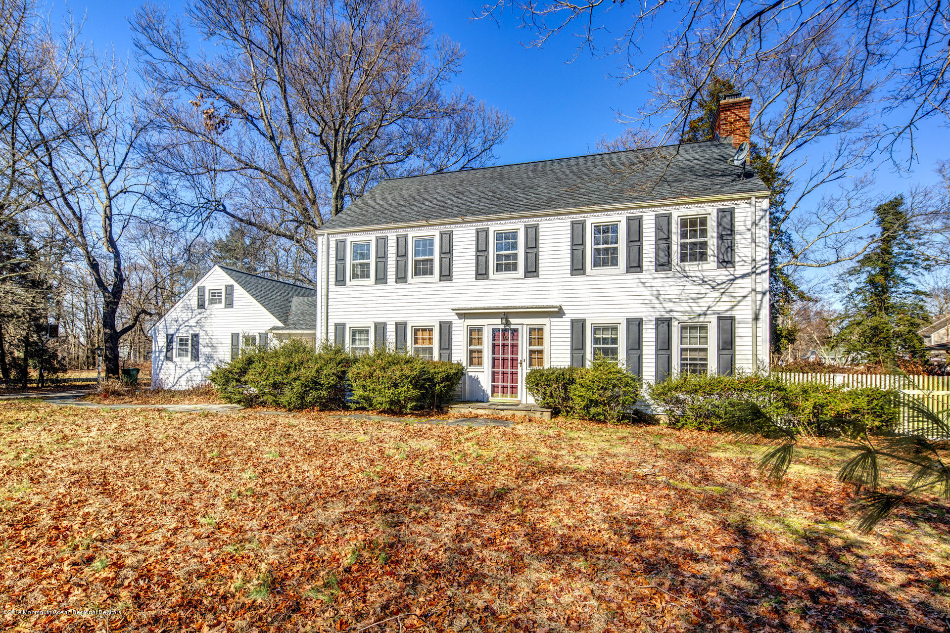 Looking for a project, flip or beautiful family home? This classic colonial looks out at the golf course in front, and in the back the almost acre property has a beautiful inground pool in a parklike setting of lawn and mature trees.  Close to Jersey Shore Medical and Asbury Park.  With some TLC this is a true treasure.