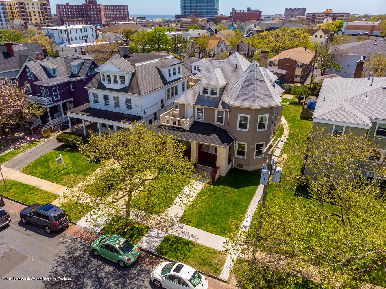 Beautiful, over-sized turn of the century Queen Anne Victorian in the estate home section of NE Asbury Park, 2 1/2  blocks off the beachfront.  The property is comprised of two buildings, the front main home (6 units) with original hardwood floors, and Victorian details, and a back, two-level carriage house(2 units). The financials are very strong under the current configuration with the net income in excess of $74K. While this home can certainly be maintained as a cash positive rental building, the property also offers unlimited restoration or redevelopment potential.  Given the close proximity to the beach, this property would make a wonderful condo conversion for high end weekend units, or, restore this amazing property to its former grandeur as a stately principal home.